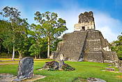 Temple of the Masks, Tikal National Park, Yucatan, Guatemala