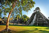 Temple of the Great Jaguar, Tikal National Park, Yucatan, Guatemala